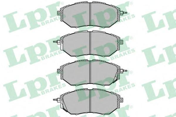 05P1402 Колодки тормозные SUBARU LEGACY/OUTBACK/TRIBECA 2.0-3.6 03- передние