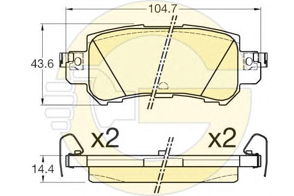 6135395 Колодки тормозные MAZDA CX-5 11- задние