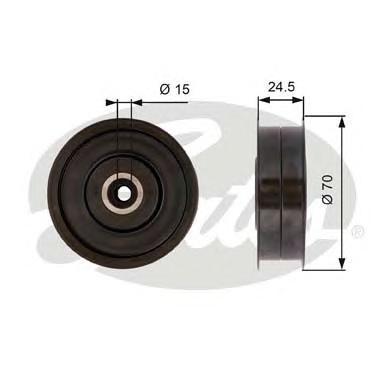 T36372 Ролик ремня приводного MB W203/204/211/251/221/906 2.3-5.0