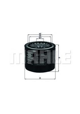 OC286 Фильтр масляный TOYOTA CAMRY/COROLLA/CARINA