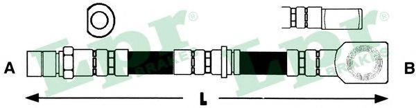 6T47703 Шланг тормозной OPEL OMEGA B 94-03 передний