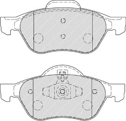 FDB1866 Колодки тормозные RENAULT MEGANE II/LAGUNA II/SCENIC II передние
