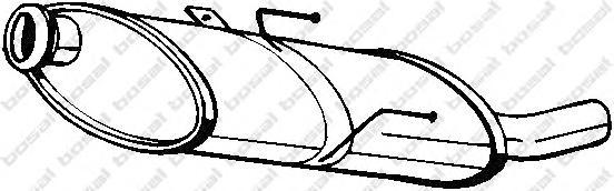 190833 Глушитель зад.часть PEUGEOT 406 1.6-1.8L 95-04