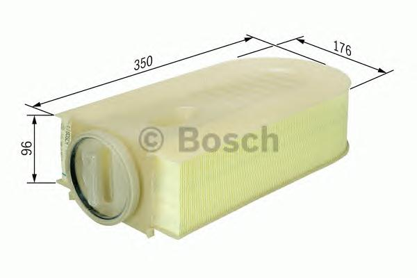 F026400133 Фильтр воздушный MB W211/204/212 2.2/2.5 CDI 07-