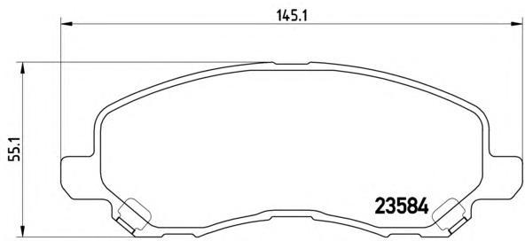P54030 Колодки тормозные MITSUBISHI ASX/LANCER/OUTLANDER/DODGE CALIBER передние