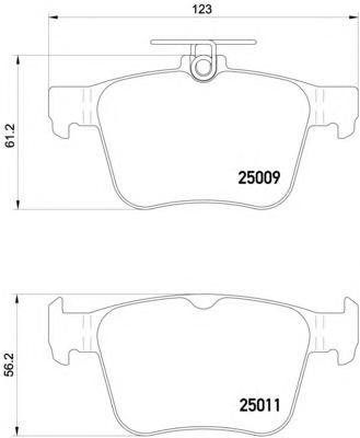 P85124 К-т торм. колодок Re Audi A3 S3q