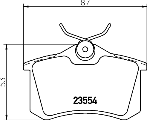 8DB355018111 Колодки тормозные AUDI 95/VOLKSWAGEN 9205 задние