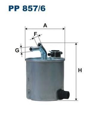 PP8576 Фильтр топливный NISSAN NAVARA/PATHFINDER 2.5 DCI