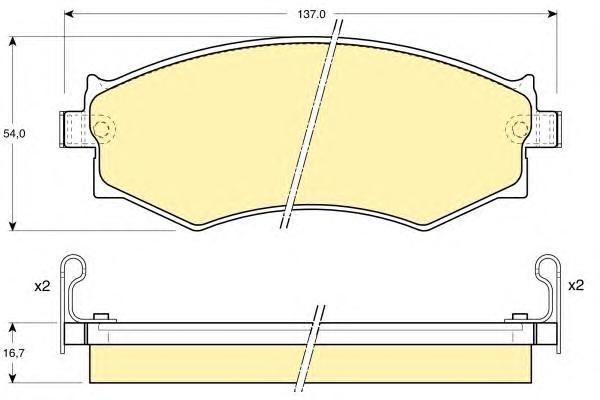 6110089 Колодки тормозные HYUNDAI SONATA 88-93/NISSAN PRIMERA W10 90-98 передние