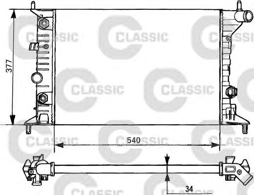 231393 Радиатор, охлаждение двигателя