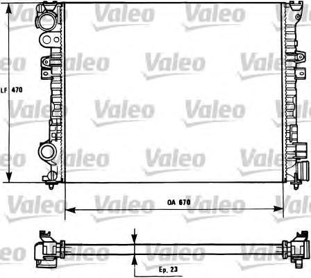 731166 Радиатор системы охлаждения CITROEN: EVASION (22, U6) 1.8/2.0/2.0 16V/2.0 Turbo C.T. 94-02, JUMPY (U6U) 1.6/1.9 D/1.9 D 7