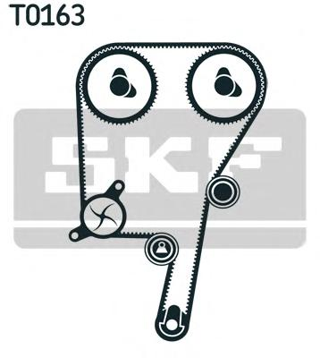 VKMC06038 Комплект ремня ГРМ VOLVO 2.0T-2.5T 98- (с помпой)