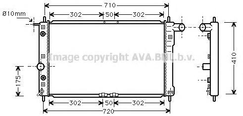 DW2017 Радиатор системы охлаждения DAEWOO: LEGANZA (KLAV) 2.0 16V 97 - 04 , NUBIRA седан (KLAJ) 1.6 16V 97 -