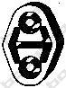 255085 Подвеска глушителя AUDI 80 2.3 91-94