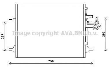 VO5166 Радиатор кондиционера VOLVO: S60 II 2.0 T/D3/D4/D5/D5 AWD/T5/T6 AWD 10-, V60 2.0 T/2.4 D5/2.4 D5 AWD/D3 / D4/D5/D5 AWD/T5