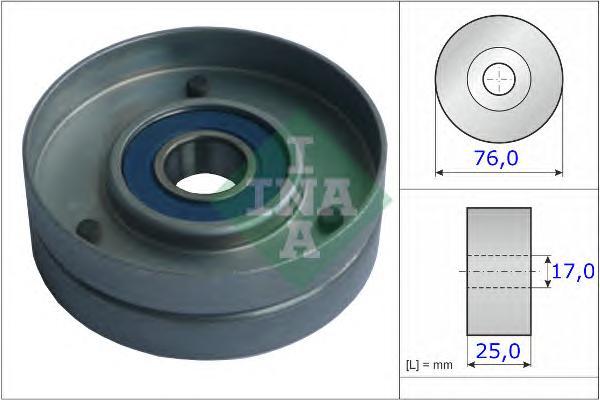 531075130 Ролик натяжной поликлинового ремня AUDI: A4/A6 2.5TDI 09/97-09/01, 11/00-, A8 2.5TDI 01/97-04/00, 09/00-09/02