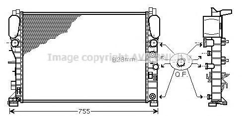 MSA2342 Радиатор MB W211 2.3-3.5/2.0D/2.2D A/T 03-