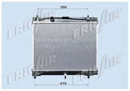 01153010 Радиатор, охлаждение двигателя