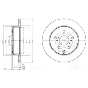 BG4115 Диск тормозной TOYOTA RAV 4 III 06- задний D=281мм.