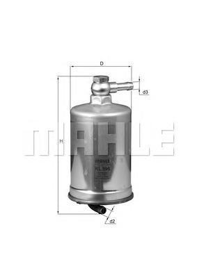 KL599 Фильтр топливный AUDI: A4 2.7TDI/3.0TDI 04-