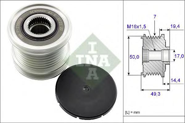535014010 Муфта свободного хода MB W204/W211/W906/W639 2.2D-3.2