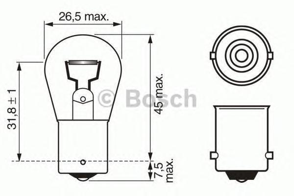 1987302503 Лампочка 24V P21W 21 W BA15s Trucklight Heavy Duty