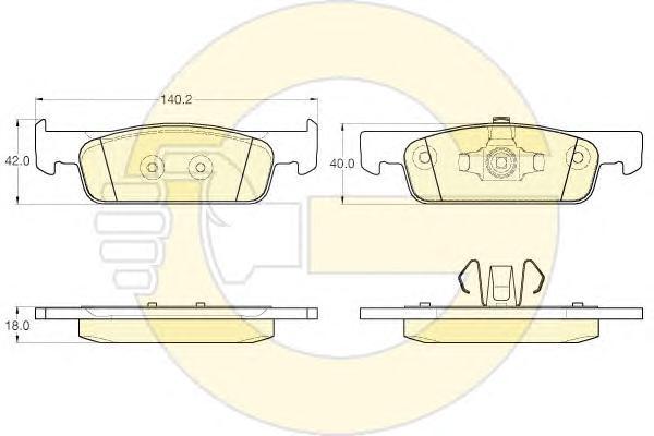 6120162 Колодки тормозные RENAULT LOGAN II/SANDERO II 14- пер.