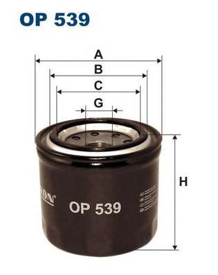 OP539 Фильтр масляный DAEWOO MATIZ 98-