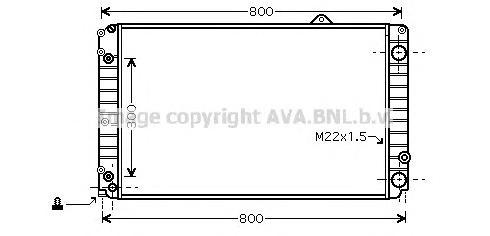 AIA2099 Радиатор AUDI A8 2.8/4.2 94-99