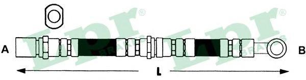 6T47407 Шланг тормозной SUBARU IMPREZA 92-00/LEGACY 89-98 передний левый