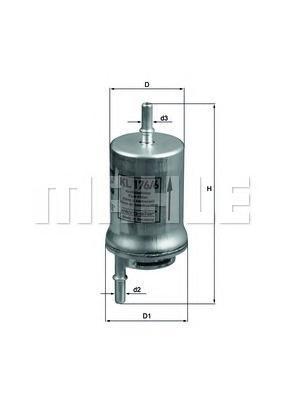 KL1766D Фильтр топливный VAG POLO/GOLF/CADDY/FABIA/A2/A3 99-