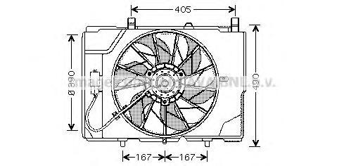 MS7501 Вентилятор радиатора MB W202/210 CDI