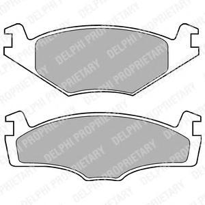 LP421 Колодки тормозные VOLKSWAGEN G2 1.6/G3 1.4/1.6/1.9D передние