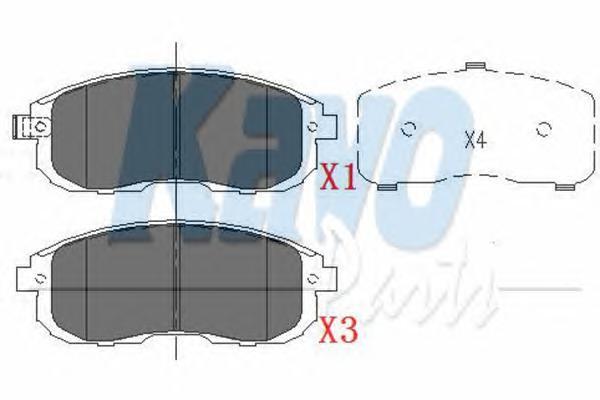 KBP6557 Колодки тормозные NISSAN JUKE/MAXIMA/TEANA/TIIDA/SUZUKI SX4 перед. с инд.износа