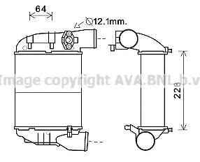 AI4186 Интеркулер, охладитель нагнетаемого воздуха / A4 1.8T 00~