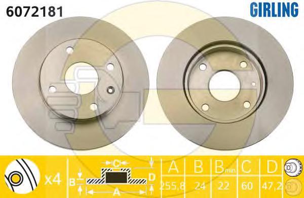 6072181 Диск тормозной CHEVROLET LACETTI/EPICA/REZZO передний вент.