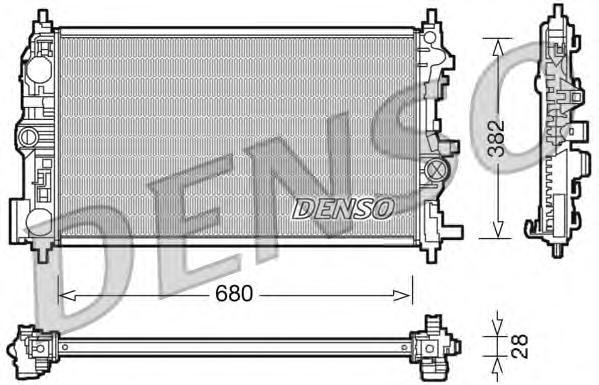 DRM20078 Радиатор OPEL ASTRA J/ZAFIRA C 1.7TD/2.0TD M/T 09-