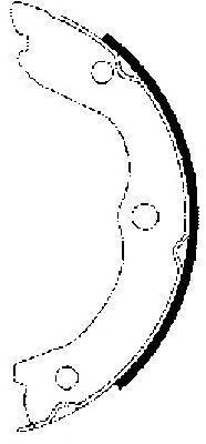 8DA355050611 Колодки торм.бар.NISSAN MICRA 03-/NOTE 06-/RENAULT CLIO 05-/MODUS 04-