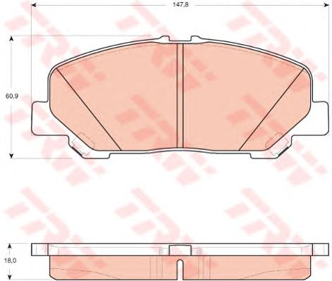 GDB3455 Колодки тормозные TOYOTA ALPHARD 08-/ESTIMA/PREVIA 06- передние