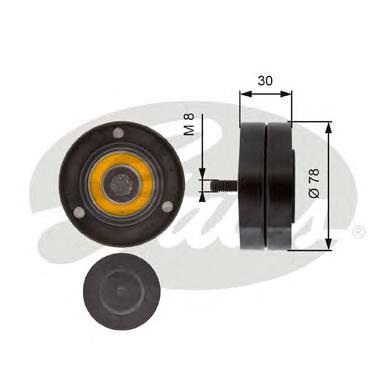 T36236 Ролик ремня приводного AUDI A8 3.7/4.2 02-10