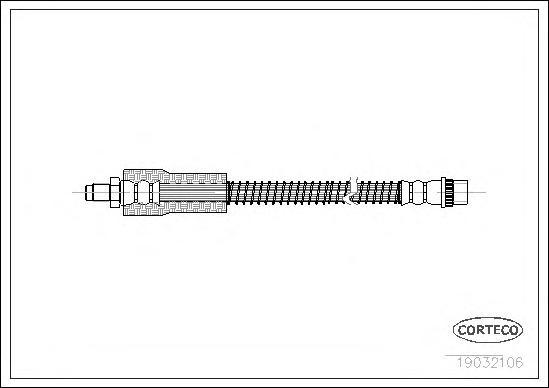 19032106 Шланг тормозной RENAULT: CLIO II 2.0 16V Sport 98-, VEL SATIS 2.0 16 V Turbo/2.0 16V Turbo/2.0 dCi/2.0 dCi/2.2 dCi/2.2
