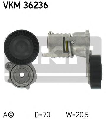VKM36236 Натяжитель ремня приводного VOLVO C70/S40/V50/FORD FOCUS 2.4/2.5D/2.5T 04-
