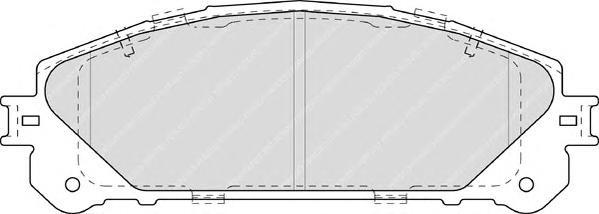 FDB4354 Колодки тормозные LEXUS RX 09-/TOYOTA HIGHLANDER 07- передние