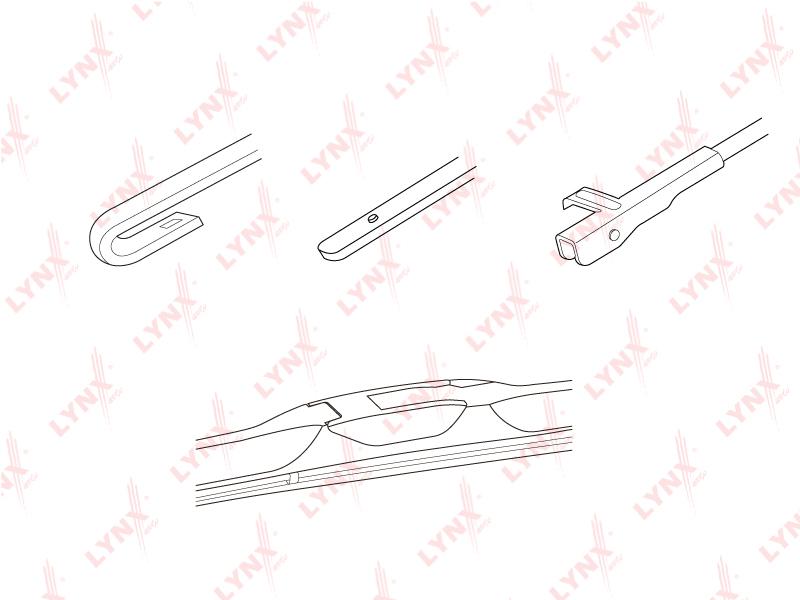 lx480 Гибридная щетка стеклоочистителя 480мм AUDI A3 96-03, BMW 3(E90/1) 05-11, CHEVRO