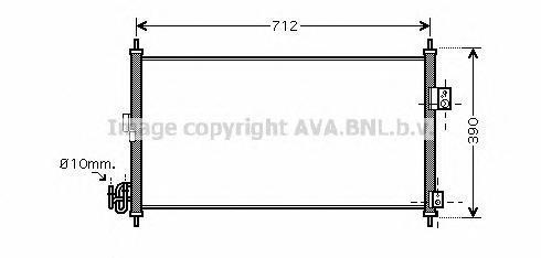 DN5263 Конденсер NISSAN X-TRAIL 2.5 01-