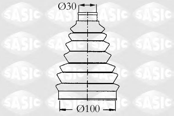 2933983 Пыльник ШРУСа CITROEN JUMPER/XANTIA/XM/PEUGEOT 605/BOXER 94- нар.