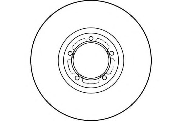 """6027851 Диск тормозной FORD TRANSIT 91-00 R15"""" передний вент.D=270мм."""