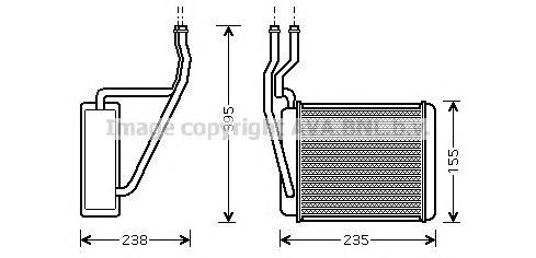 FD6329 Радиатор отопителя FORD FIESTA/FUSION 1.25-1.6/1.4D/1.6D 01-