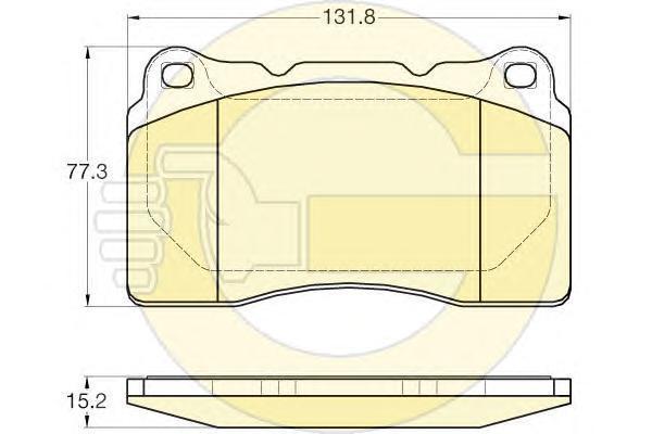 6120075 Колодки тормозные VOLVO S60 2.5T AWD 03-10 передние (с ном.шасси 466813)
