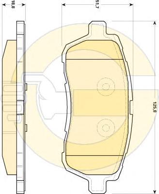 6118939 Колодки тормозные FORD FIESTA 08- передние